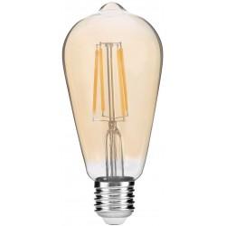 Stmívatelná LED žárovka E27 8W FILAMENT ST57 2400K retro - Kouřová