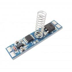 LED stmívač DSP2 do profilu, S rozšířenou PAMĚTÍ 0V, 8A, 12-24VDC, LED podsvícení