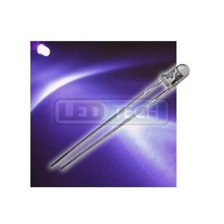 LED dioda 3mm UV round 30°