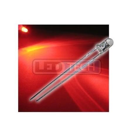 LED dioda 3mm červená round 30°