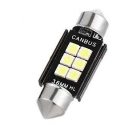 LED sufitka 36mm SMD 3030 canbus bílá