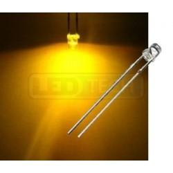 LED dioda 3mm žlutá ploché čelo 100°