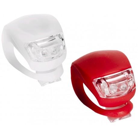 2ks LED světlo na kolo 2LED silikonové vč. baterií