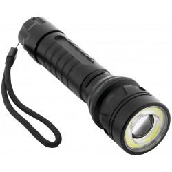 LED XM-L T6 aluminiová svítilna s funkcí zoom, 8W Entac vč. baterie