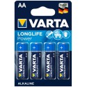 Varta Longlife Power Alkaline Mignon Baterie AA 4ks