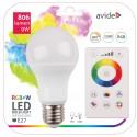 LED žárovka RGBW 9W E27 - 240°