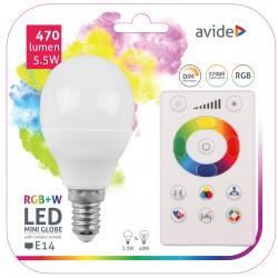 LED žárovka RGBW 5,5W E14 - 240°