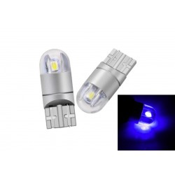 LED žárovka T10 W5W 2 smd 3030 boční svit modrá