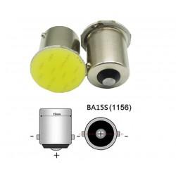 LED žárovka bajonetová BA15S COB bílá