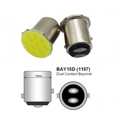 LED žárovka bajonetová BA15D COB bílá