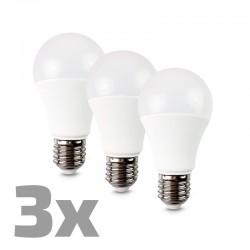ECOLUX LED žárovka 3-pack, klasický tvar, 10W, E27, 3000K, 270°, 810lm, 3ks v balení