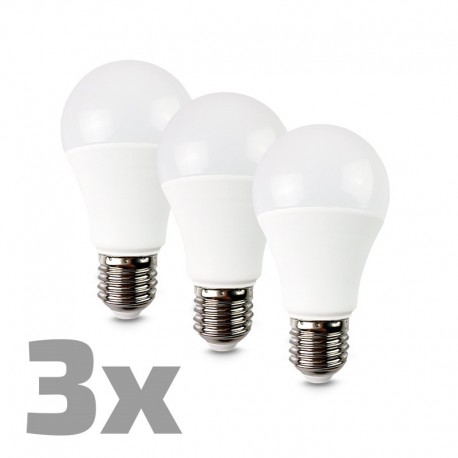 ECOLUX LED žárovka 3-pack, klasický tvar, 12W, E27, 3000K, 270°, 980lm, 3ks v balení