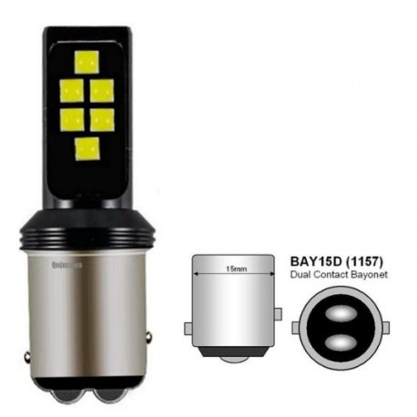 LED žárovka BA15D 3030 LED 6W bílá