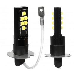 LED žárovka H3 12x 3030 LED 6W bílá