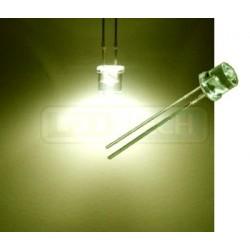 LED dioda 5mm teplá bílá ploché čelo 100°