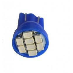 LED žárovka T10 W5W 8 SMD modrá