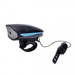 LED nabíjecí cyklo světlo, 250lm, klakson, Li-ion, USB