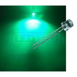 LED dioda 5mm zelená ploché čelo 100°