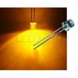 LED dioda 5mm žlutá ploché čelo 100°