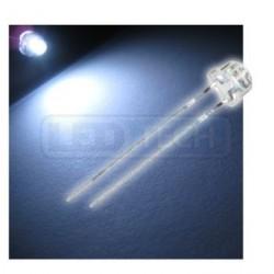 LED dioda 5mm studená bílá straw hat 120°