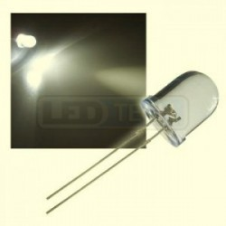 LED dioda 10mm teplá bílá round 30°