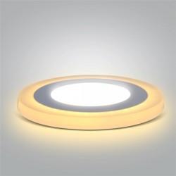 LED podsvícený panel, podhledový, 6W+3W, 400lm, 4000K, kulatý