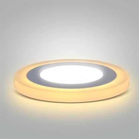 LED podsvícený panel, podhledový, 12W+4W, 900lm, 4000K, kulatý