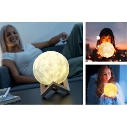 Designová dotyková lampička Měsíc