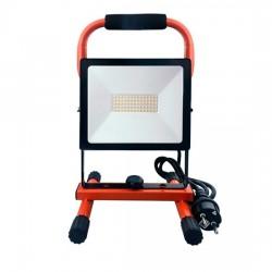 LED reflektor PRO se sklopným stojanem, 50W, 4250lm, 5000K, kabel se zástrčkou, IP65