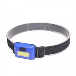Čelová LED COB svítilna, 3W, modrá
