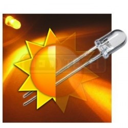 LED dioda 5mm žlutá samoblikací 30°