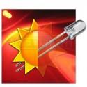 LED dioda 5mm červená samoblikací 30°