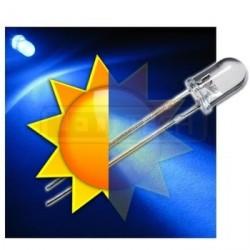 LED dioda 5mm modrá samoblikací 30°