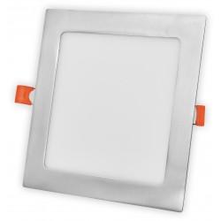 Nerez LED panel 12W čtverec 166x166mm