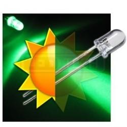 LED dioda 5mm zelená samoblikací 30°