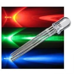 LED dioda RGB 5mm 4PIN - napájení anodou (+) čirá