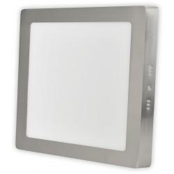 Nerez LED panel 18W přisazený čtverec 220x220mm
