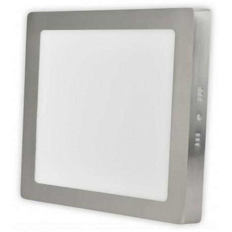 Nerez LED panel 12W přisazený čtverec 170x170mm