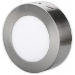 Nerez LED panel 6W přisazený kulatý 120mm