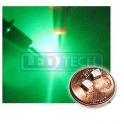 LED smd dioda 3528 PLCC-2 zelená - 700mcd / 120°