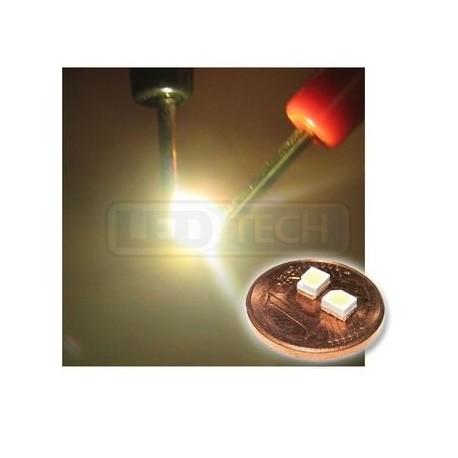 LED smd dioda 3528 PLCC-2 teplá bílá - 1100mcd / 120°
