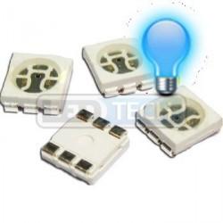 LED smd dioda 5050 tříčipová PLCC-6 modrá
