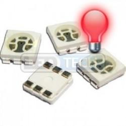 LED smd dioda 5050 červená 1000mcd 120°