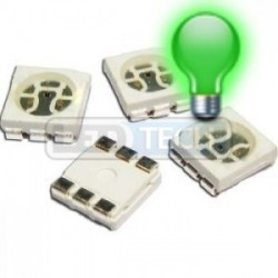 LED smd dioda 5050 zelená 5000mcd 120°