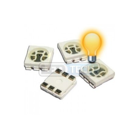 LED smd dioda 5050 žlutá 1000mcd 120°