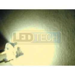 LED dioda 8mm straw hat 0.5W teplá bílá