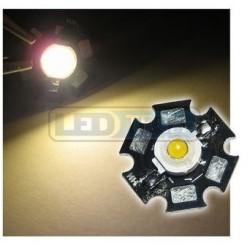 LED dioda 1W výkonová teplá BÍLÁ 3000-3500K
