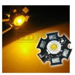 LED dioda 1W výkonová ŽLUTÁ 595nm