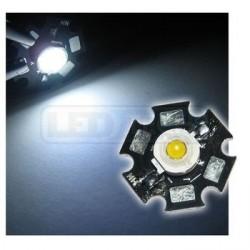LED dioda 3W výkonová studená BÍLÁ 6000-6500K