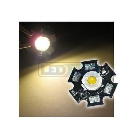 LED dioda 3W výkonová teplá BÍLÁ 3000-3200K